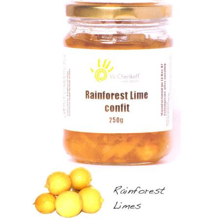 Rainforest lime confit (250g)