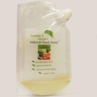 Fresher4Longer Natural Food Rinse – twin pack